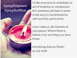 Irish Love Quote by Archbishop Eamon Martin Calls For Prayers For Victims Of Tragedy