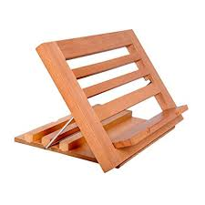book reading stand for desk amazon com book stand holder yumu adjustable american beech