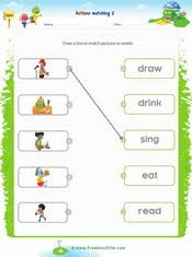 action verbs matching exercise 2 verbs pinterest action
