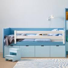 kids bahia storage bed u0026 step stool boys u0026 girls beds cuckooland