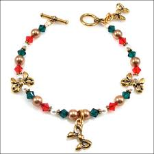 colored charm bracelet images Christmas past charm bracelet with tierracast antique gold and jpg