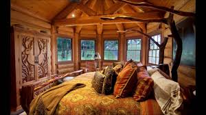 Log Cabin Home Interiors by Simple Cabin Home Interior Design With Wooden Wall Youtube
