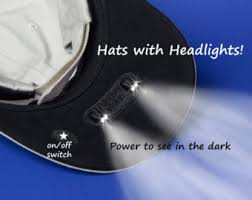 running hat with lights lighted baseball hat and lighted beanie by vividdogstudios on etsy