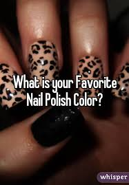 is your favorite nail polish color
