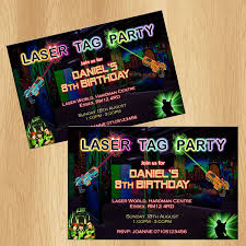 laser tag party invitations personalised birthday invites amazon