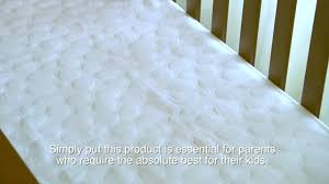 Pillow Top Crib Mattress Pad by Dreamtex My Little Nest Pebbletex Waterproof Organic Cotton Crib