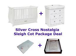 Silver Cross Nostalgia Sleigh Cot Bed Silver Cross Nostalgia Sleigh Cot Package Deal Bubs N Grubs
