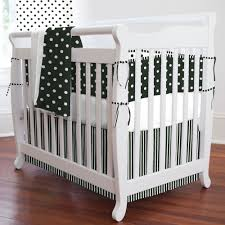 Black And White Crib Bedding Set Dots Stripes Partened Black And White Bedding Set Combined White