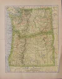 Oregon And Washington Map by Prints Old U0026 Rare Washington Page