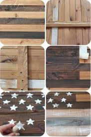 American Flag Home Decor American Flag Pallet Art Hand Painted Rustic Handmade Aged