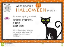 halloween party background halloween party invitation cards spider web and black cat illust