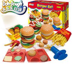 pate a modeler cuisine gift play mold set burger set mode fimo clay