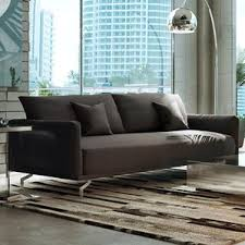 Distressed Leather Sleeper Sofa 65 Inch Sleeper Sofas Wayfair