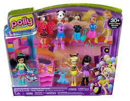 amazon com polly pocket dress up party doll pack toys u0026 games