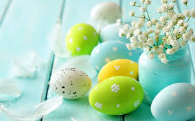 wallpaper 5120x3200 beautiful easter eggs and blossom