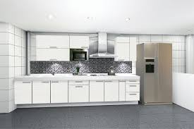 Modern Kitchen Ideas With White Cabinets Interesting Modern Off White Kitchen Cabinets Tile Floors To