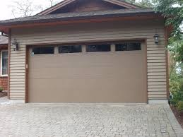 exterior design appealing exterior design with brick wall and red exciting exterior garage design with wood siding and beige clopay garage doors plus belgard pavers