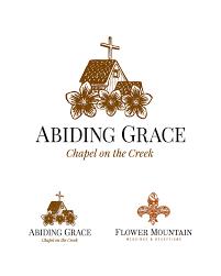 flower companies abiding grace logo design for gatlinburg tn venue