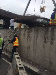 look skyway beam construction in makati collapsed when in manila
