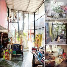 artsy dwelling your art studio style artsy forager