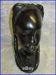 wood sculpture carved vintage tribal