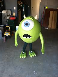 made my son mike wazowski for halloween 2013 pics