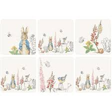 classic rabbit rabbit classic design set of 6 coasters coasters