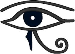 eye of horus embroidery design