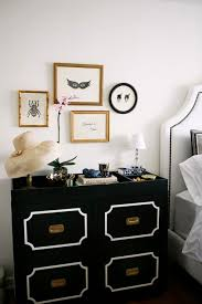 rue magazine chic black white bedroom with black dorothy draper
