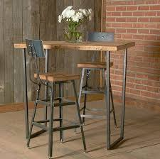bar height table industrial bar height harvest barn wood stool with steel back 1 25 counter
