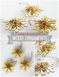 sparkly wood ornaments in 5 minutes on crafttastic tv hydrangea