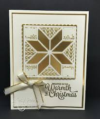 love the christmas quilt bundle from the stampin u0027 up holiday