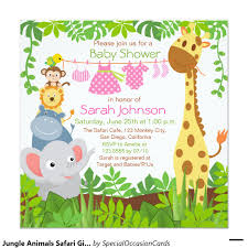 monkey invitations baby shower jungle animals safari baby shower invitation shower