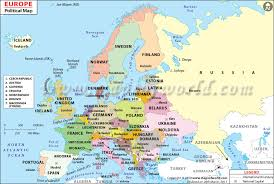 map of euorpe political map of europe with countries and capitals