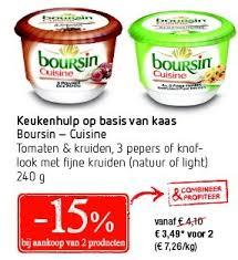 boursin cuisine delhaize promotie keukenhulp op basis kaas boursin cuisine