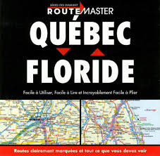 Map Store Quebec To Florida Drop Down French Edition By Route Master