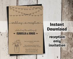 reception only invitations reception only invitation template printable rustic