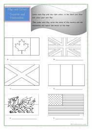 Flags Of The World Colouring 60 Free Esl Flags Worksheets