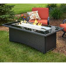 rectangle propane fire pit table red ember seagrove 48 in rectangle propane fire pit table with free