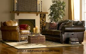 Rustic Leather Armchair Bradley U0027s Furniture Etc Rustic Leather Couch Collections