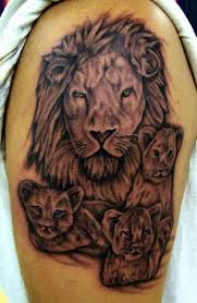 lion and cubs tattoo on biceps tattoos pinterest cubs tattoo