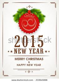 merry christmas greeting card decorated stylish stock vector