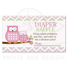 raffle baby shower owls girl baby shower raffle ticket