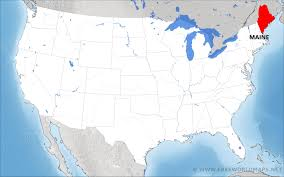 State Of Maine Map by Where Is Maine Located On The Map