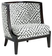 Grey And White Accent Chair Accent Chairs Accent Fabric Chair Transitional Armchairs And