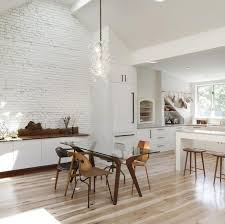 Kitchen No Cabinets Design Of The Kitchen Without Upper Cabinets Modern Kitchen