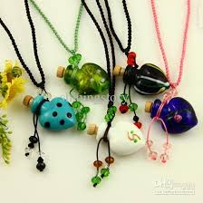 glass necklace pendants wholesale images Wholesale glass essential oil diffuser necklaces pendant empty jpg