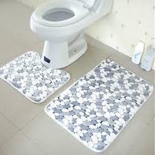 online get cheap stone pedestal aliexpress com alibaba group 2pcs mesh thicken coral fleece floor bath mats set non slip bathroom toilet rugs gray stone shower mat pedestal mat