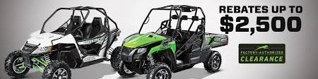 factory authorized clearance on side by sides arctic cat