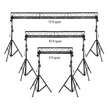 dj lighting truss package prox t ls35c complete portable multi size triangular lighting truss
